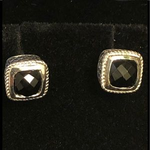 GIFT!! Never worn sterling and onyx earrings.